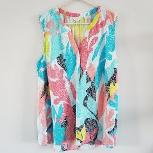 Crown & Ivy | Colorful Sleeveless Blouse